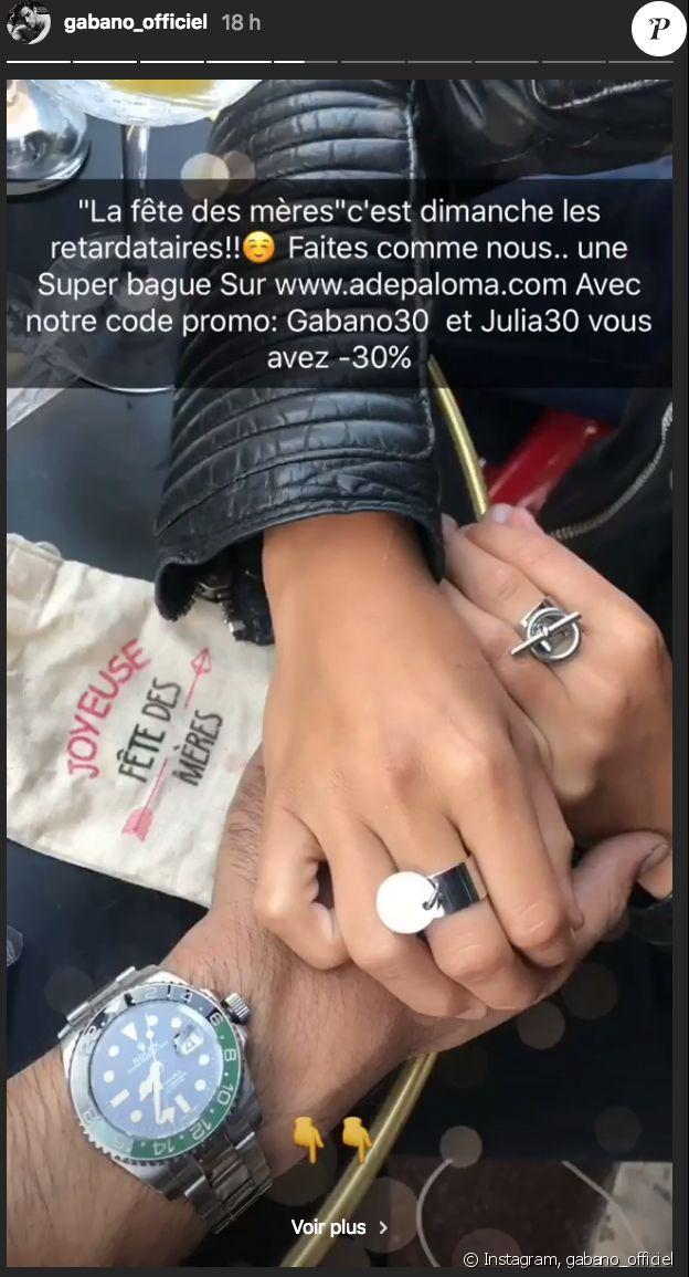 Gabano et Julia Paredes sur Instagram, mai 2018.