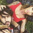 Gabano et Julia Peredes plus proches que jamais sur Snapchat, mai 2018.