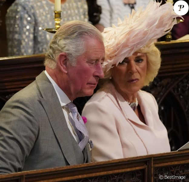 Le prince Charles, prince de Galles, et Camilla Parker Bowles, duchesse de Cornouailles - Cérémonie de mariage du prince Harry et de Meghan Markle en la chapelle Saint-George au château de Windsor, Royaume Uni, le 19 mai 2018.
