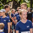 La princesse Mary de Danemark et ses enfants le prince Christian, la princesse Isabella, le prince Vincent et la princesse Josephine ont couru la Royal Run organisée pour les 50 ans du prince Frederik, à Copenhague/Frederiksberg, le 21 mai 2018.