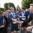 """Le prince Frederik de Danemark participe au """"Royal Run"""", organisée pour ses 50 ans à Aarhus, Danemark, le 21 mai 2018. Pour les 50 ans du prince héritier Frederik de Danemark, des courses étaient organisées dans les 5 grandes villes du pays.21/05/2018 - Aarhus"""