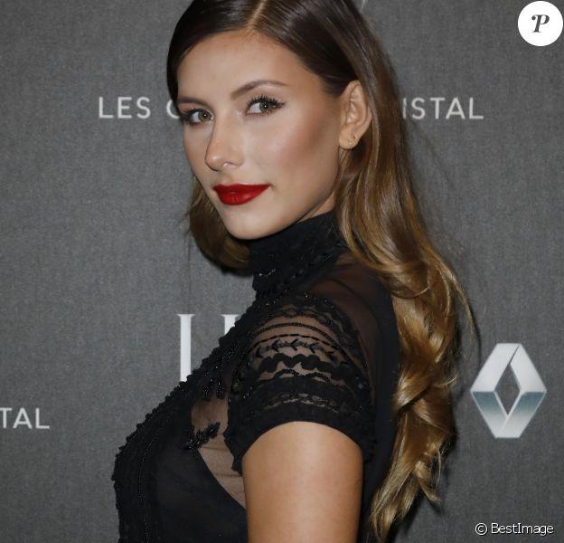 Exclusif - Camille Cerf (Miss France 2015) - 12ème cérémonie des Globes de Cristal 2018 au Lido à Paris, le 12 février 2018. © Rachid Bellak/Pool/Bestimage