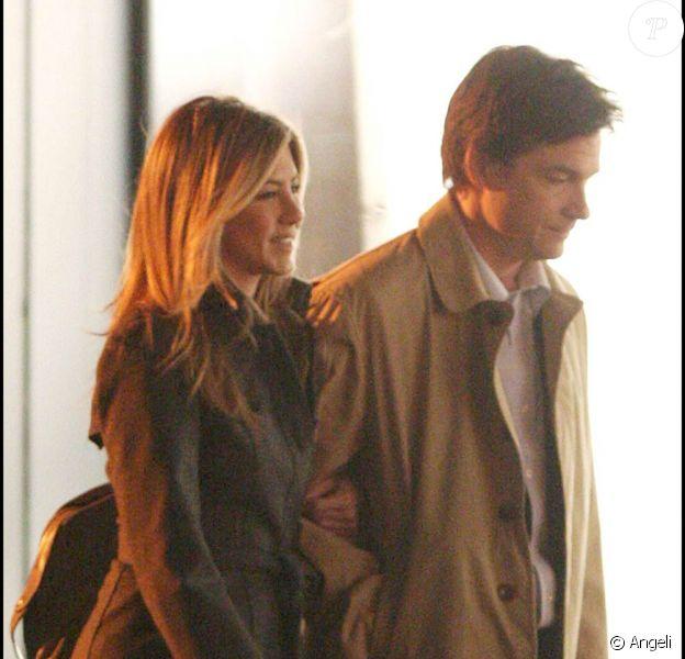 """Jennifer Aniston et Jason Bateman sur le tournage de """"The Baster"""", le 9 avril 2009, à New York !"""