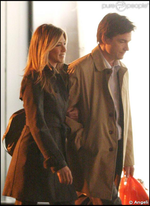 "Jennifer Aniston et Jason Bateman sur le tournage de ""The Baster"", le 9 avril 2009, à New York !"