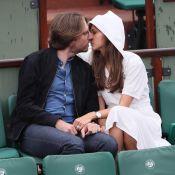 Ophélie Meunier et son mari toujours aussi complices à Roland-Garros