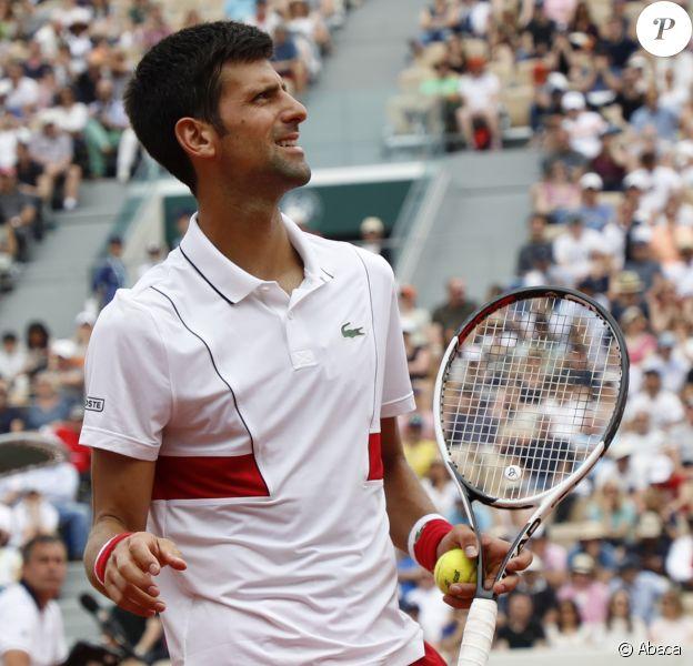 Novak Djokovic à Roland-Garros le 30 mai 2018.