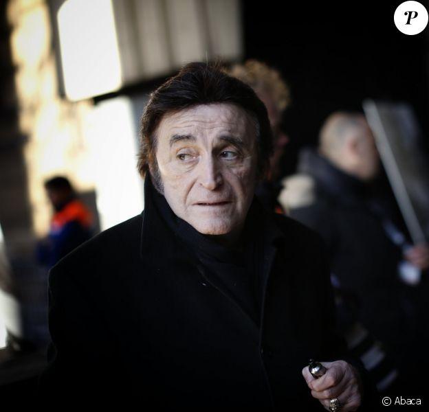 Dick Rivers aux funérailles de Johnny Hallyday le 9 décembre 2017 à Paris.