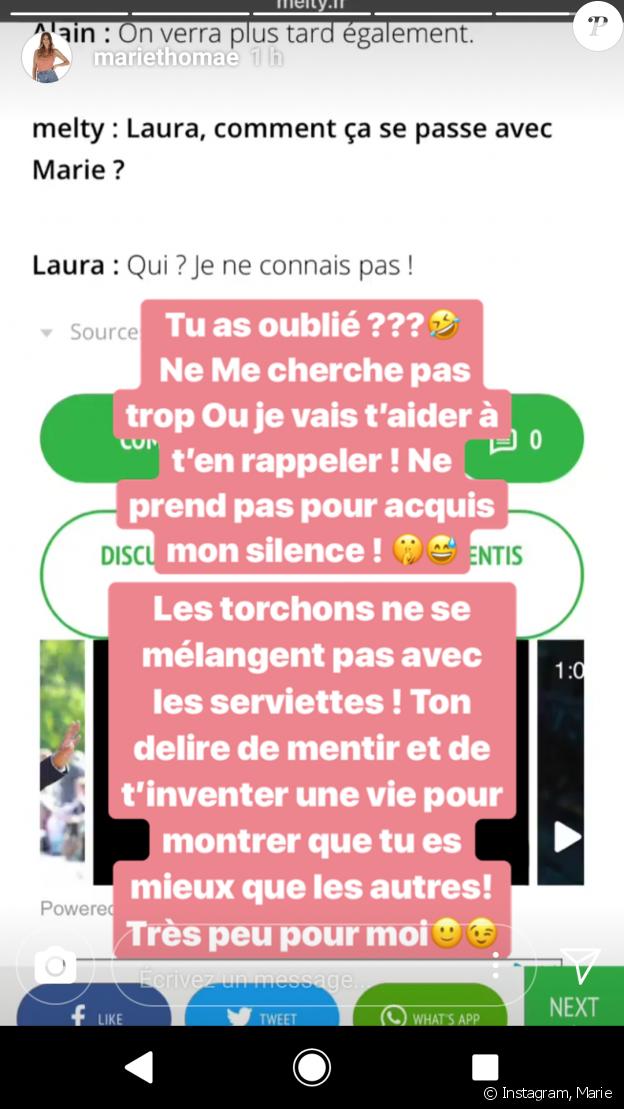 Marie balance sur son ancienne meilleure amie Laura sur Instagram, 2 juin 2018