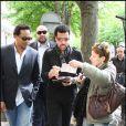 Lionel Richie dans les rues de Paris, le 10 avril 2009