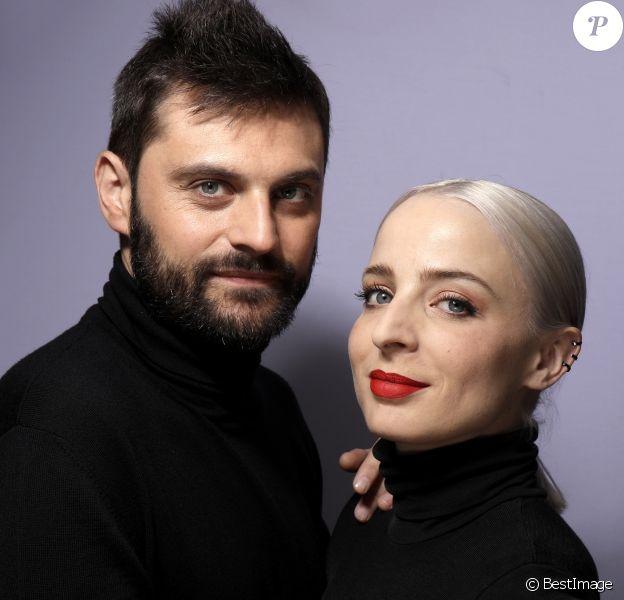 Rendez-Vous avec le groupe Madame Monsieur (composé d'Emilie Satt et Jean-Karl Lucas) qui représentera la France à l'Eurovision 2018 le 12 mai prochain à Lisbonne, le 2 mai 2018. © Cédric Perrin/Bestimage