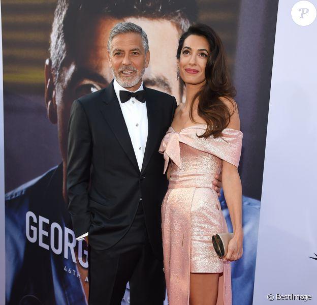 """George Clooney et sa femme Amal Clooney - People à la soirée annuelle """"AFI Life Achievement Award"""" à Los Angeles. Le 7 juin 2018 © Lisa O'Connor / Zuma Press / Bestimage"""