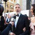 """George Clooney et sa femme Amal Clooney - People à la soirée annuelle """"AFI Life Achievement Award"""" à Los Angeles. Le 7 juin 2018 © Birdie Thompson / Zuma Press / Bestimage"""