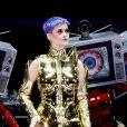 Katy Perry en concert à Lanxess Arena à Cologne, le 23 mai 2018.