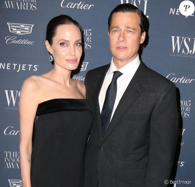 Angelina Jolie et Brad Pitt - People aux WSJ magazine Innovator Awards à New York le 4 novembre 2015.