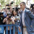 """Inaki Urdangarin inculpé dans le procès """"case Noos"""" arrive et quitte le tribunal de Palma de Majorque en Espagne le 13 juin 2018."""