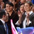 Gabrielle Guallar, la femme de Benoit Hamon, assiste au meeting de Bercy à l'AccorHotels Arena à Paris, France, le 19 mars 2017. © Lionel Urman/Bestimage