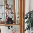 Sylvie Tellier très enceinte et sans maquillage le 12 juin 2018.