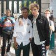 Kailand Morris (fils de Stevie Wonder) et Elias Becker - People a la sortie du défilé de mode Dior Homme collection Printemps-Eté 2019 à la Garde Républicaine lors de la fashion week à Paris, le 23 juin 2018.