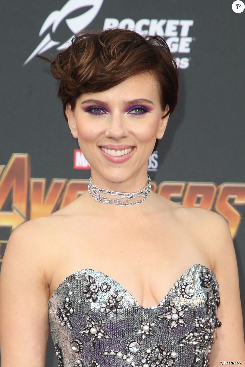 Scarlett Johansson à la première de 'Avengers: Infinity War' au théâtre El Capitan à Hollywood, le 23 avril 2018