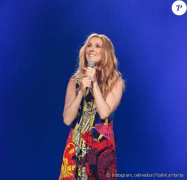 Céline Dion sur scène à Tokyo, le 26 juin 2018