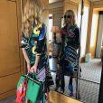 Céline Dion pose dans son hôtel à Tokyo, juin 2018
