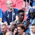 Black M (Alpha Diallo), Issa Doumbia lors de France-Argentine en 8e de finale de la Coupe du monde de football le 30 juin 2018 à Kazan en Russie. © Cyril Moreau/Bestimage