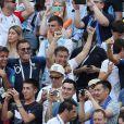 Fabrice Santoro, Jean-Roch, Dylan Deschamps et Nagui lors de France-Argentine en 8e de finale de la Coupe du monde de football le 30 juin 2018 à Kazan en Russie. © Cyril Moreau/Bestimage