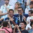 Fabrice Santoro et Jean-Roch lors de France-Argentine en 8e de finale de la Coupe du monde de football le 30 juin 2018 à Kazan en Russie. © Cyril Moreau/Bestimage
