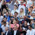 Michel Cymes, Bruno Solo, Fabrice Santoro et Jean Roch lors de France-Argentine en 8e de finale de la Coupe du monde de football le 30 juin 2018 à Kazan en Russie. © Cyril Moreau/Bestimage