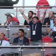 Ronaldo, Diego Maradona et sa compagne Rocio Oliva lors de France-Argentine en 8e de finale de la Coupe du monde de football le 30 juin 2018 à Kazan en Russie. © Cyril Moreau/Bestimage