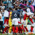 La joie des joueurs de l'équipe de France après leur victoire contre l'Argentine lors de France-Argentine en 8e de finale de la Coupe du monde de football le 30 juin 2018 à Kazan en Russie. © Cyril Moreau/Bestimage