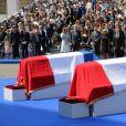 Emmanuel Macron, president de la Republique, et son épouse Brigitte - Cérémonie d'entrée de Simone Veil et de son époux Antoine Veil au Panthéon à Paris le 1er juillet 2018 © Hamilton / Pool / Bestimage