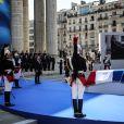 Emmanuel Macron, président de la République - Cérémonie d'entrée de Simone Veil et de son époux Antoine Veil au Panthéon à Paris le 1er juillet 2018 © Hamilton / Pool / Bestimage