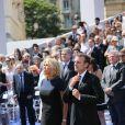 Le président de la République française Emmanuel Macron et sa femme la première dame Brigitte Macron - Cérémonie d'entrée de Simone Veil et de son époux Antoine Veil au Panthéon à Paris le 1er juillet 2018 © Hamilton / Pool / Bestimage