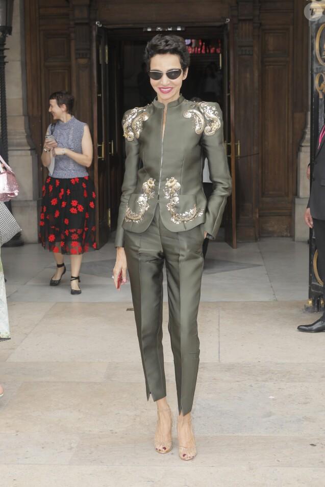 Farida Khelfa - Défilé de mode Schiaparelli Haute-Couture collection Automne/Hiver 2018/19 lors de la fashion week à Paris, le 2 juillet 2018. © Veeren/CVS/Bestimage