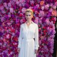 Alice Eve - Défilé de mode Schiaparelli Haute-Couture collection Automne/Hiver 2018/19 lors de la fashion week à Paris, le 2 juillet 2018. © Olivier Borde/Bestimage