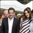 Carla Bruni et son époux Nicolas Sarkozy lors de la remise du Trophée Virginio Bruni-Tedeschi.