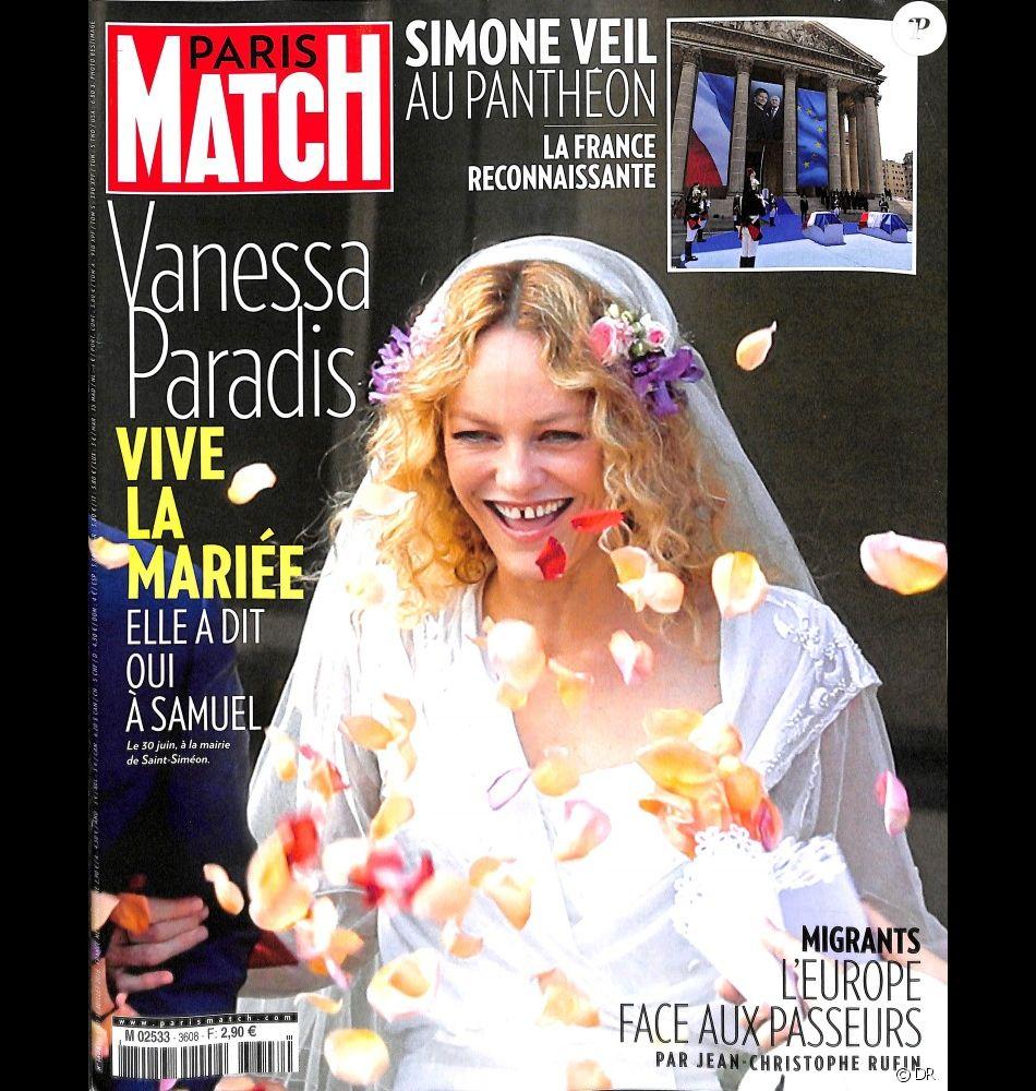 Couverture du magazine \u0026quot;Paris Match\u0026quot; en kiosques