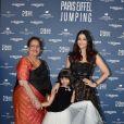 Exclusif - Aishwarya Rai avec sa mère Brindya Rai et sa fille Aaradhya Bachchan - Photocall du Longines Paris Eiffel Jumping au Champ de Mars à Paris, le 6 juillet 2018. © Veeren/Borde/Bestimage