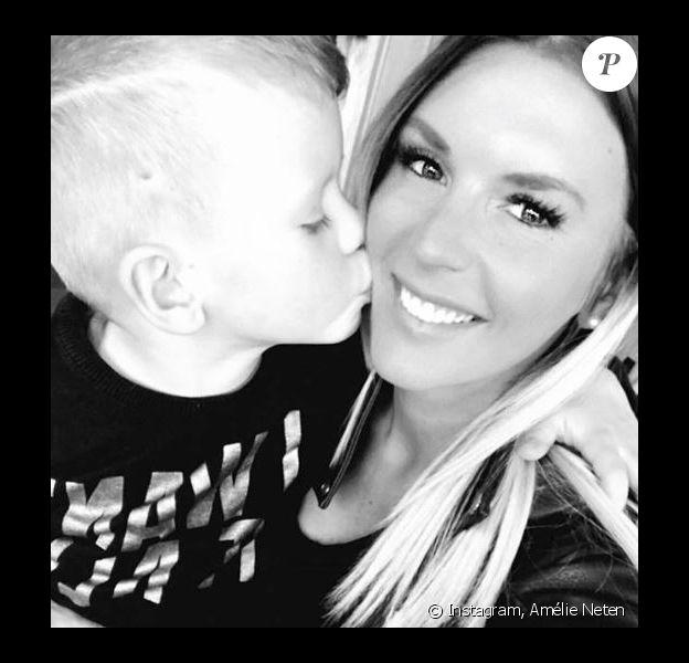 Amélie Neten et son fils Hugo - Instagram, Décembre 2017