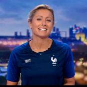 Anne-Sophie Lapix revêt le maillot bleu après sa polémique sur le foot !