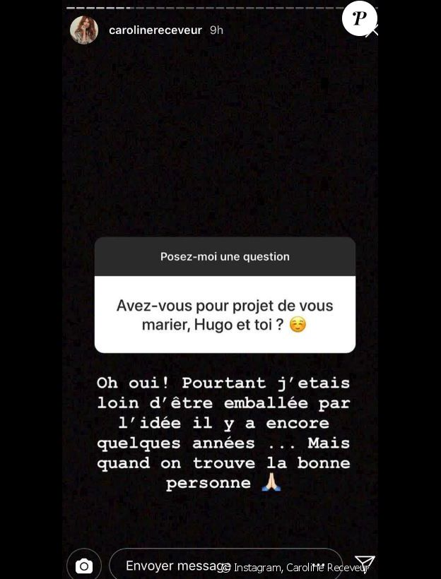 Caroline Receveur bientôt mariée à Hugo Philip - story Instagram, 11 juillet 2018