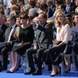 Nicolas Sarkozy avec sa femme Carla Bruni-Sarkozy et François Hollande - Cérémonie d'entrée de Simone Veil et de son époux Antoine Veil au Pantheon à Paris le 1er juillet 2018 © Hamilton / Pool / Bestimage