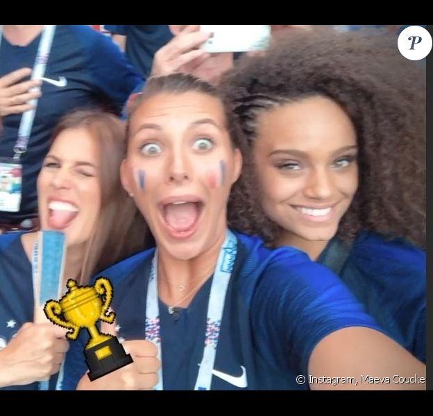 Les Miss France dans tout leurs états après la victoire de l'Equipe de France lors de la Coupe du monde 2018 - 15 juillet 2018