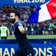 MOSCOW, RUSSIA - JULY 15, 2018: Adil Rami - An award ceremony after the 2018 FIFA World Cup Final match between France and Croatia at Luzhniki Stadium.