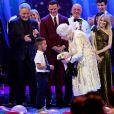 Sir Tom Jones, La reine Elisabeth II d'Angleterre, Le prince Charles, prince de Galles et Kylie Minogue - Concert au théâtre Royal Albert Hall à l'occasion du 92ème anniversaire de la reine Elisabeth II d'Angleterre à Londres le 21 avril 2018.