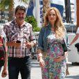 Exclusif - Adriana Karembeu enceinte de 7 mois et demi et son mari André Ohanian sont de retour à Monaco le 1er juin 2018 ou elle va accoucher au mois de juillet.