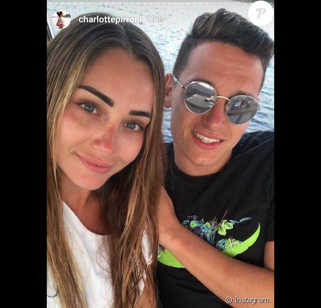 Florian Thauvin et Charlotte Pirroni en vacances en Corse. Juillet 2018.