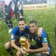 Florian Thauvin et Kylian Mbappé - Finale de la Coupe du Monde de Football 2018 en Russie à Moscou, opposant la France à la Croatie (4-2) le 15 juillet 2018 © Moreau-Perusseau / Bestimage