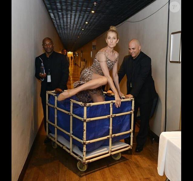 Céline Dion a partagé cette photo de sa tournée sur Instagram, le 18 juillet 2018